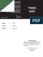 Manual de Reloj Timex