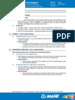 Water Proofing - W02 - Work Method Statement
