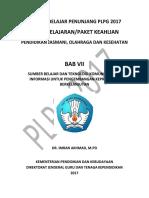 BAB VII Sumber Belajar Dan Teknologi Komunikasi Dan Informasi Untuk Pengembangan Keprofesian Berkelanjutan