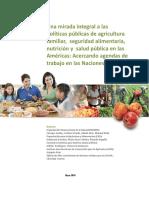 Una Mirada Agricultura Familiar, Seg Aliment. Nutric - SALUD - OMS-FAO
