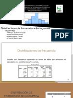 distribuciones de frecuencia e histograma