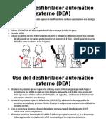 Uso Del Desfibrilador Automático Externo (DEA)