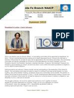 Santa Fe NAACP Summer 2010 Newsletter