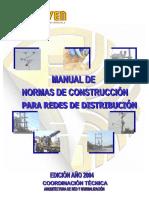 Enelven - Normas de Construccion Para Redes de Distribucion