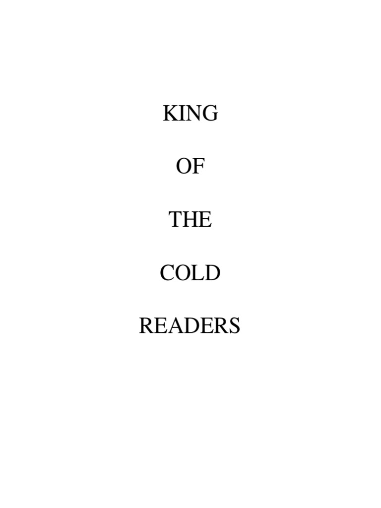 king of the cold readers pdf psychic prediction