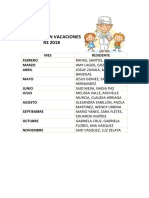 Vacaciones r Pediatria