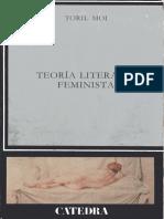 Toril Moi - Teoria Literaria Feminista