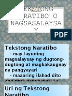 Tekstong Naratibo o Nagsasalaysay