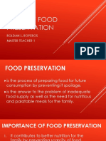 Ways of Food Preservation
