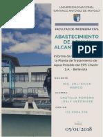 Informe de Visita Tecnica a la Planta de Tratamiento EPS Chavín -  Bellavista.