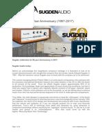 Sugden Audio 50-Year Anniversary (1967-2017)