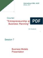 Business Models Presentation
