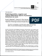 Exploring Proative Behavior