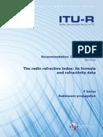 R REC P.453!12!201609 ITU Radio Refractive Index