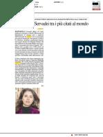 Gli studi di Servadei tra i più citati al mondo - Il Resto del Carlino del 24 dicembre 2017