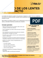 Contact Lens Care - Spanish 2013