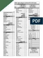Cyberpunk Sheet 8.0 Zombie Apoc FEAR
