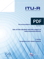 R-REC-V.574!5!201508-Use of the Decibel and the Neper in Telecommunications