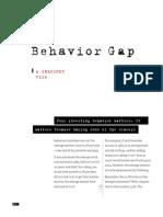 Summary Behavior Gap a Snapshot