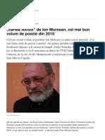 Cartea Alcool de Ion Muresan Cel Mai Bun Volum de Poezie Din 2010