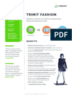 TRIMIT Fashion - ERP and Ecommerce Software Solution. Certified for Microsoft Dynamics