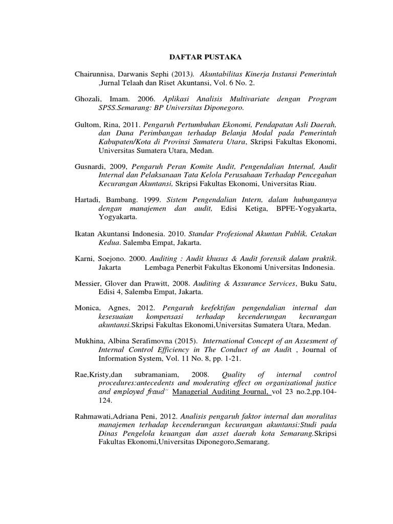 Daftar Pustaka Tesis Akuntansi Keperilakuan