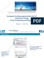 2016 03 11 Financing IoT-Cloud-Big Data Webinar Interface Europe Clean Version FINAL