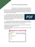 Cara Membuat Mail Merge Di MS Word 2010 Dan Fungsi Mail Merge