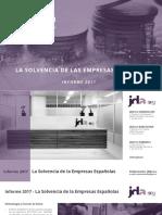 low priced 249ac b26bc Informe Estudio Sobre La Solvencia de Las Empresas Españolas 2017