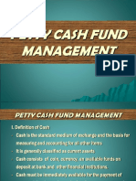 Oke Management of Petty Cash Fund