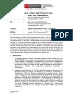 Modelo de Informe de Fondo de Encargo