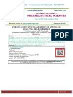 FORMULATION AND EVALUATION OF ATENOLOL FLOATING MICROSPHERES