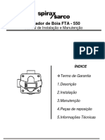 Purgador de Bóia FTA 550-Installation Maintenance Manual