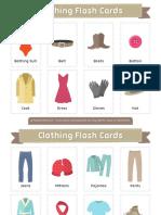 Clothing Flash Cards 2x3