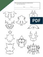Protocolos de Registro Rorschach