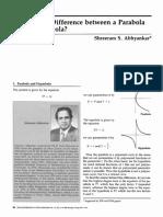 Parabola vs Hyperbola