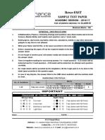 Class IX Reso FAST Sample Paper