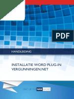 Handleiding Installatie Word Plug-In VergunningenNET