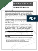 Diplomado en Gestión Municipal Formato UA 2017