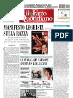 Il Fatto Quotidiano Del 4 Settembre 2010