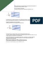Definición de Enantiómeros