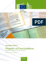 Animal Feed Eu Reg Comm Register Feed Additives 1831 03