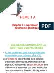 Chapitre No3 Expression Du Patrimoine Genetique 2013