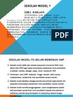 1.Definisi Sekolah Model