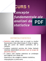 Curs  Statistica