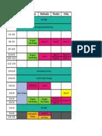 Drain Schedule