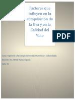 Composicion de La Uva y Calidad Del Vino