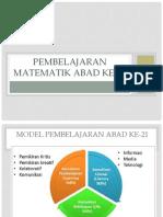 M1- Pembelajaran Matematik Abad Ke-21