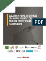 Elección de Altas Autoridades del Órgano Judicial y del Tribunal Constitucional Plurinacional - Separata