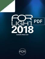 201801 Forlight Price List Euro Eu Spain